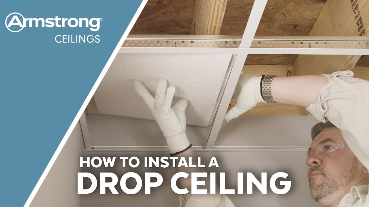 how to install a drop ceiling armstrong ceilings for the home