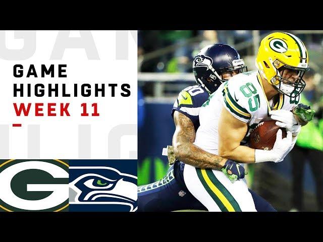 Packers vs. Seahawks Week 11 Highlights | NFL 2018