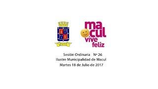 Concejo Municipal de Macul Nº 26 - 18/07/2017