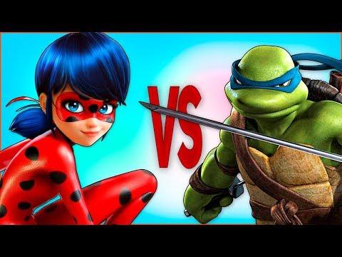 ЛЕДИ БАГ И СУПЕР КОТ VS ЧЕРЕПАШКИ НИНДЗЯ | СУПЕР РЭП БИТВА | Miraculous 2 Season VS Ninja Turtles