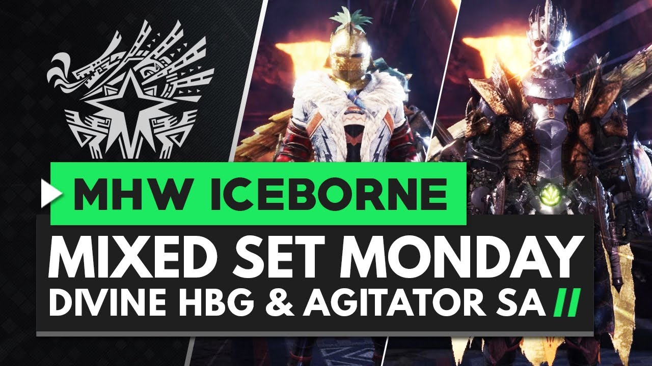 Monster Hunter World Iceborne | MIXED SET MONDAY - Divine HBG & Agitator Switch Axe thumbnail
