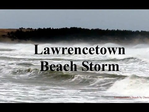 Huge Waves at Lawrencetown Beach Due to storm in Nova Scotia