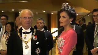 La Reina Letizia, impresionante de rosa en Japón