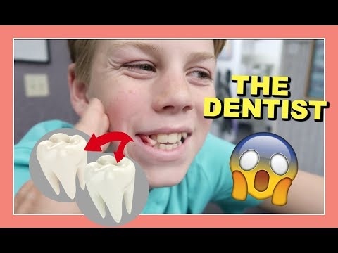 RYAN GETS 2 TEETH PULLED AT THE DENTIST (right before Halloween )