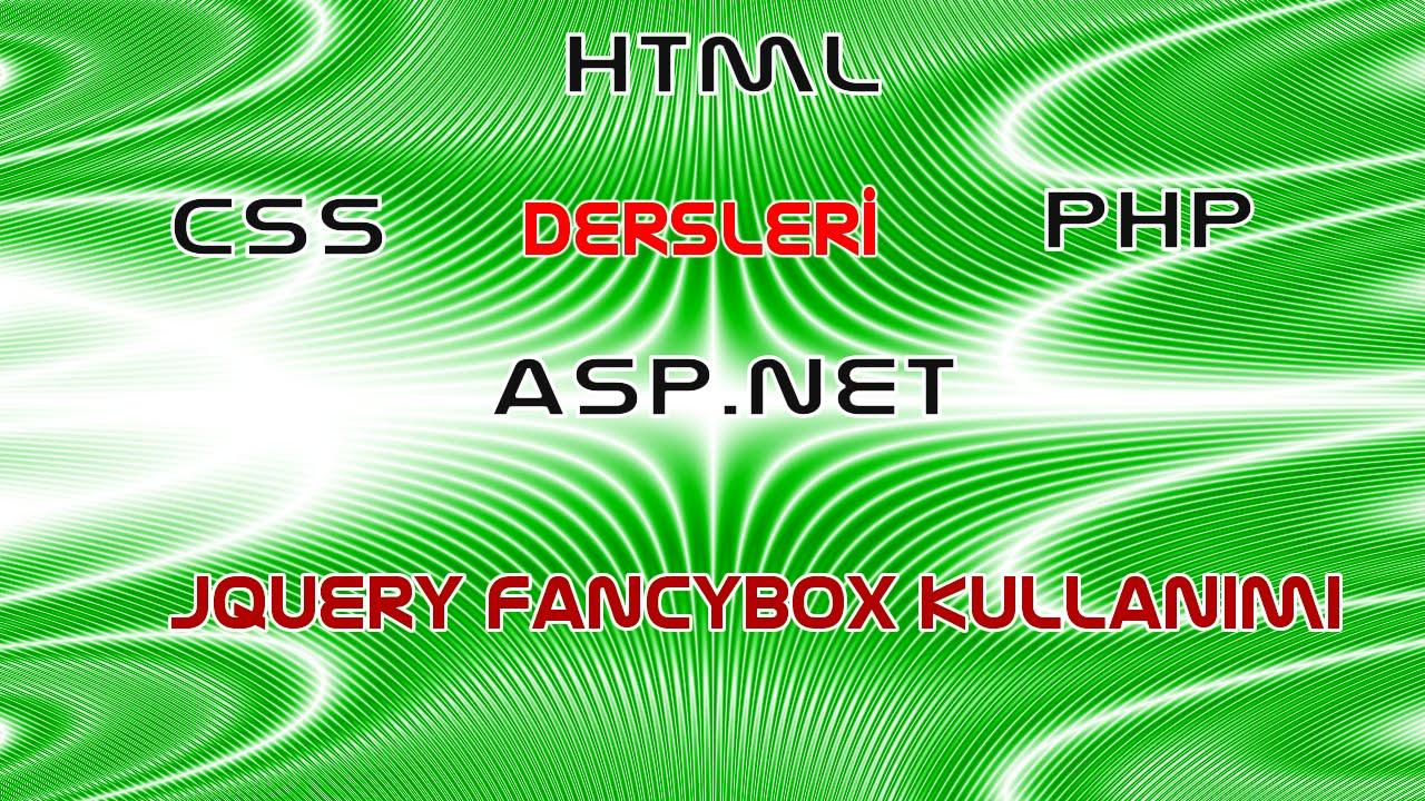 Jquery Fancybox Kullanımı - Ürünler Sayfasında Fancybox