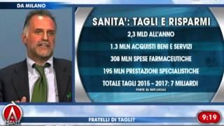 #Garavaglia, Renzi vuole tagliare la sanità, la Lombardia invece la rende più efficente