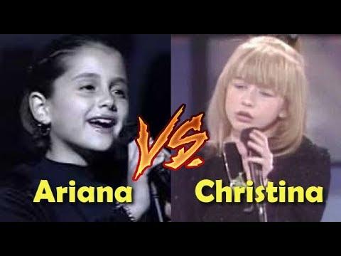 Ariana Grande VS Christina Aguilera Child /Teenage Years VOCAL BATTLE!