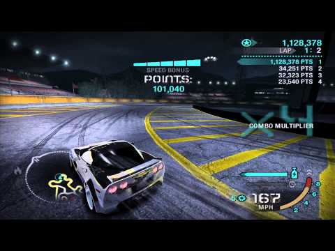 NFS Carbon Gold Track Drift Challenge 5.6 Million Corvette