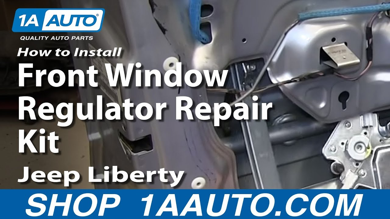 hight resolution of how to install front window regulator repair kit 2002 06 jeep liberty youtube
