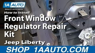 How To Install Front Window Regulator Repair Kit 2002-06 Jeep Liberty