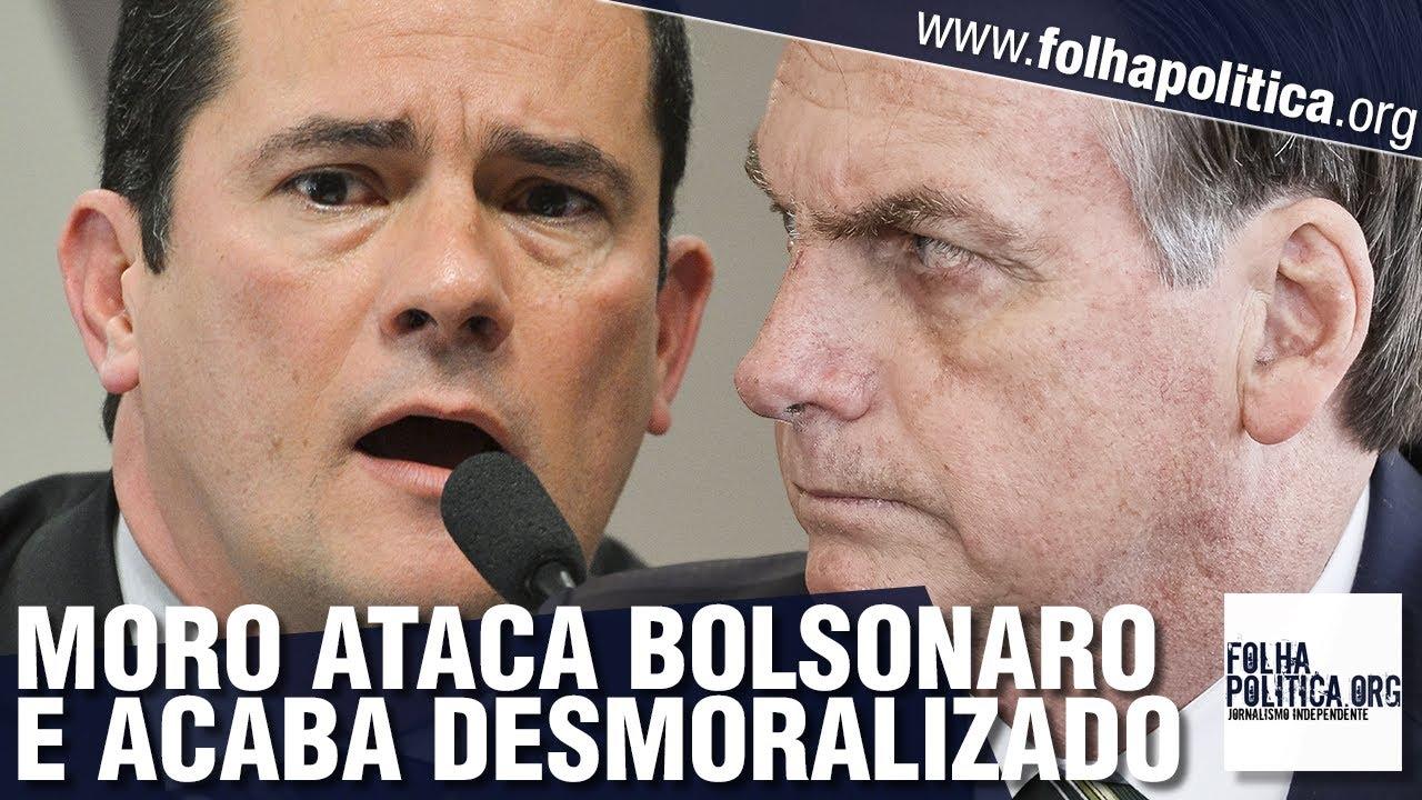 Sergio Moro ataca Bolsonaro e acaba desmoralizado pela equipe de comunicação do presidente.