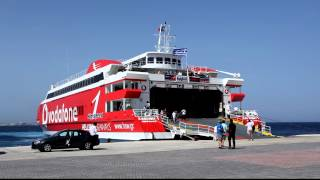 Ferry Landing Vodafone Highspeed 1 Arrival Mykonos