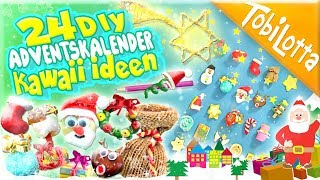 24 DIYs Adventskalender basteln - kinderfilme Advent basteln Kinderkanal 144