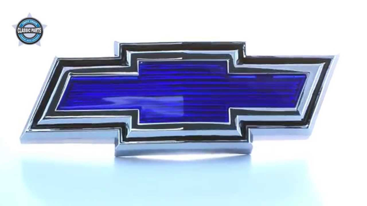 All Chevy blue chevy bowtie emblem : 1971-72) Front Grill Emblem - Bowtie - YouTube