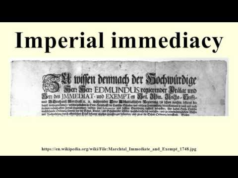 Imperial immediacy