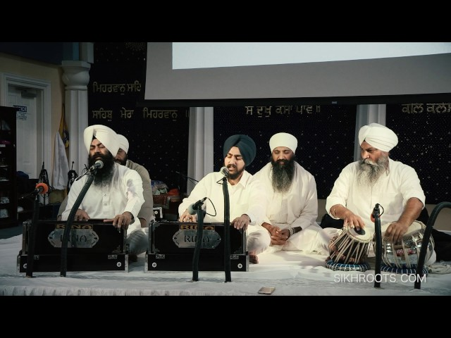 Veer Gurjot Singh - Son of Sant Anoop Singh Una Sahib Wale at San Jose Gurdwara, November 27, 2016