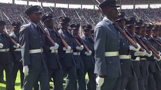 Zimbabwe Defence Forces Parade Marches Past President Mugabe