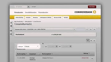 Commerzbank Online Banking Guided Tour