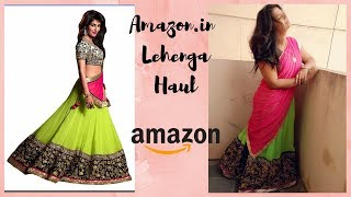 Amazon Lehenga , Anarkali , Saree Haul & Review   Sushmitha Neppalli