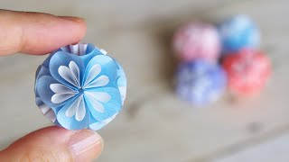 "DIY How to Make Paper Flower Ball ""Kusudama"""