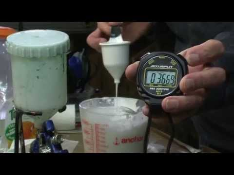 how-to-thin-water-borne-paint-for-spraying,-measuring-viscosity