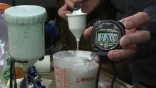 How to Thin Water Borne Paint for Spraying, Measuring Viscosity