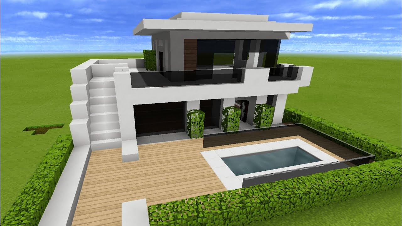 Minecraft: How to Build a Large Modern House Tutorial ...