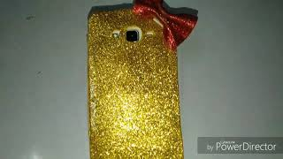 Easy and simple beautiful girl's glitter phone cover