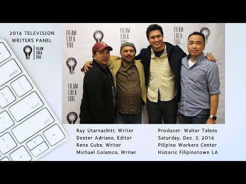1st FilAm Creative TV Writers Panel: Ray Utarnchitt, Rene Gube and Michael Golamco