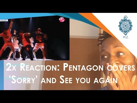 PENTAGON(펜타곤)   'Sorry' and 'See You Again' cover reactions