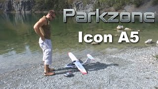 parkzone icon a5 first flight from water