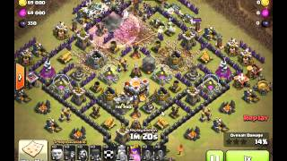Clash of Clans - 12 Earthquake EQ attack with Mass Witch! TH10 vs TH10.5