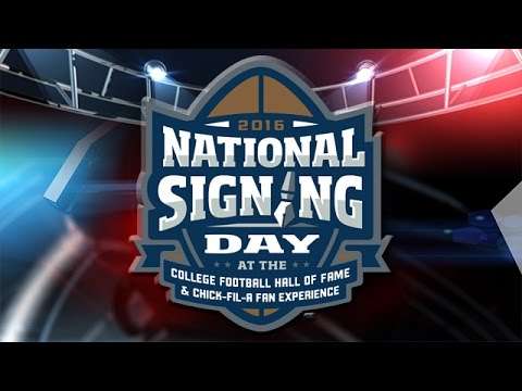 National Signing Day from the College Football Hall of Fame