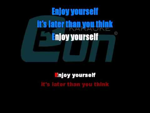 Jools Holland Enjoy Yourself It's Later Than You Think chorus Eon karaoke demo