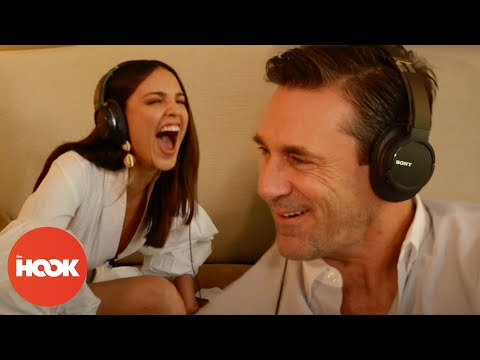 Jon Hamm & Eiza González Read Each Other