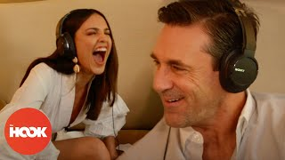Jon Hamm & Eiza González Read Each Other's Lips | BABY DRIVER FULL INTERVIEW | THE HOOK