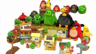 Full Set Angry Birds Movie Toys - New for 2016 - Angry Birds Attack On Pig Island Playset