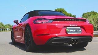 2017 Porsche 718 Boxster S | Armytrix Advanced Valvetronic Exhaust - No Music, Just Sounds