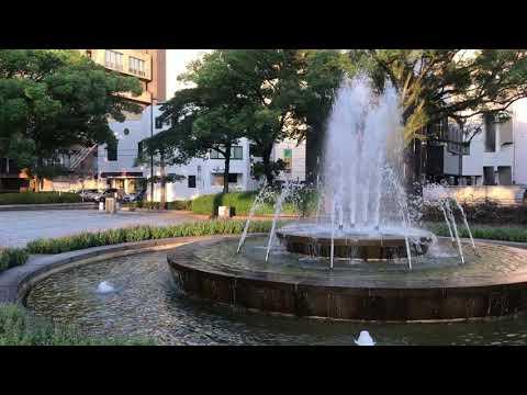 Fountain at Memorial Park. Hiroshima, Japan.
