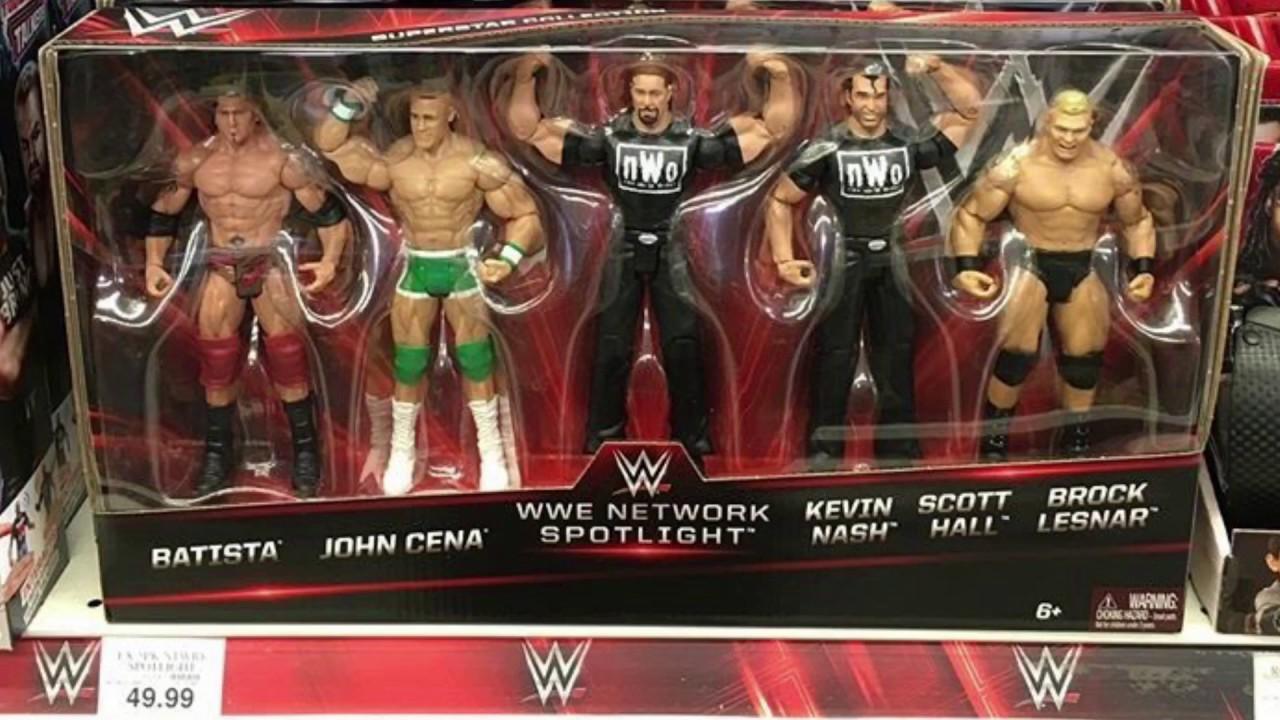 New 5 Pack Wwe Network Spotlight Basic Figures Mattel Toys R Us