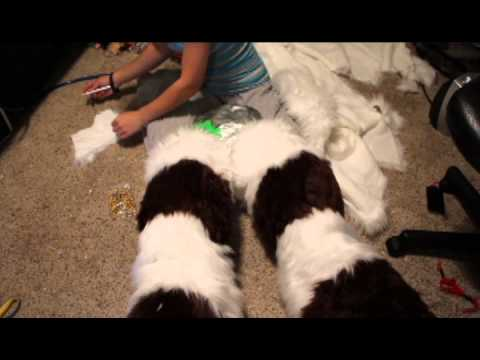 How to make a fursuit: digi legs furring