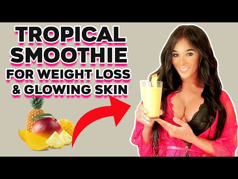 tropical-smoothie-for-weight-loss-&-glowing-skin