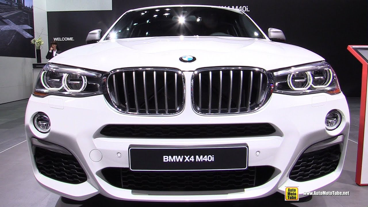 2017 Bmw X4 M40i Exterior And Interior Walkaround Debut At 2016 Detroit Auto Show