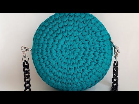 Видеоурок вязания сумки крючком