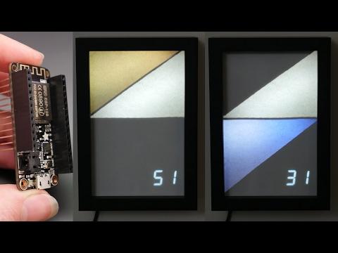 Modern Wifi Weather Display with Arduino & ESP8266 // Becky Stern