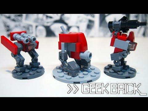 #GeekBrick Самоделки Мини-роботы из LEGO для настольной (часть 3)