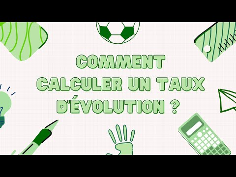 Comment Calculer Un Taux D Evolution Youtube