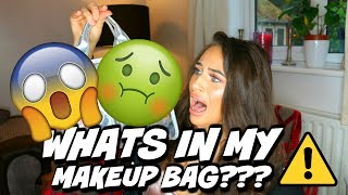 WHATS IN MY MAKEUP BAG! WARNING: ABSOLUTELY DISGUSTING!