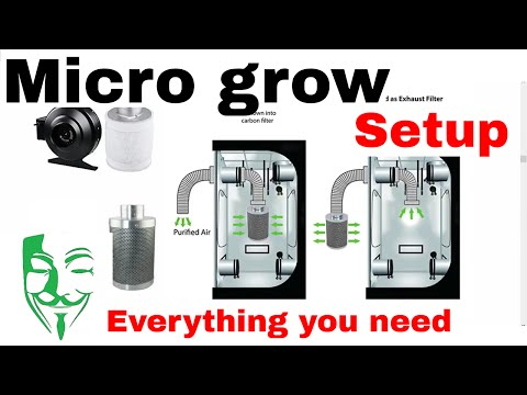 Micro grow GUIDE: Everything you need to grow Autoflowers grow box/tent SETUP