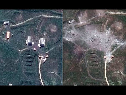 Before/ after satellite imagery show US strikes destroyed Syrian sites